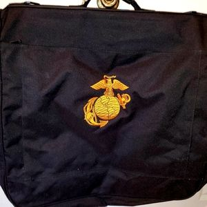 USMC emblem embroidered garment bag